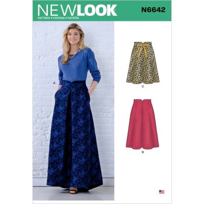 New Look Sewing Pattern 6642 - Misses Raised Waist Skirts