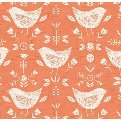 Narvik - Burnt Orange - Curtain Fabric