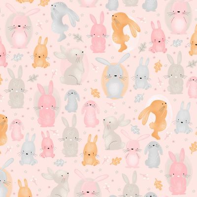 A E Nathan - Comfy Flannel - Pink Bunny