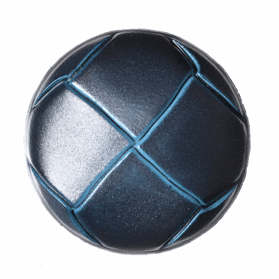 Imitation Leather Navy Shank Button - 23mm\36L