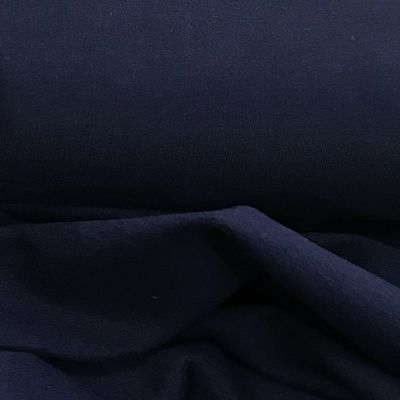 Lightweight Cotton Sweatshirt Jersey Fabric - Navy