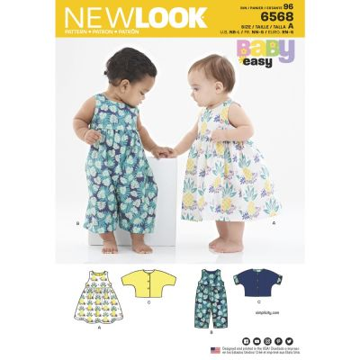 New Look Sewing Pattern 6568 - Babies Dress Romper and Jacket