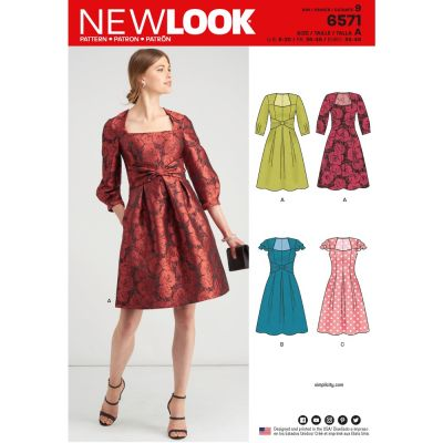 New Look Sewing Pattern 6571 - Misses Dresses