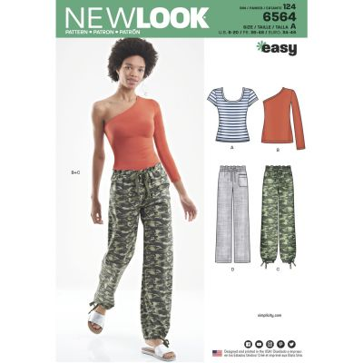 New Look Sewing Pattern 6564 - Womens Pants and Knit Tops