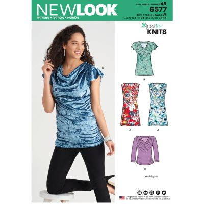 New Look Sewing Pattern 6577 - Misses Knit Tops