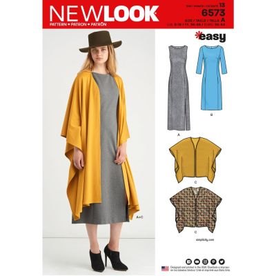 New Look Sewing Pattern 6573 - Misses Dress and Wrap