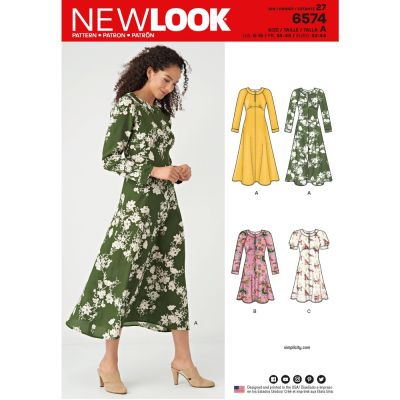 New Look Sewing Pattern 6574 - Misses Dresses