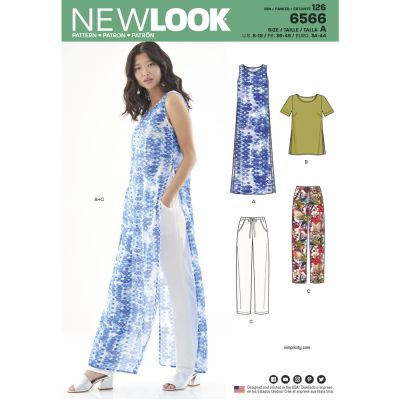 New Look Sewing Pattern 6566 - Womens Tunic Top and Pants