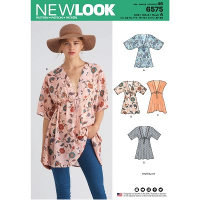 New Look Sewing Pattern 6575 - Misses Tunics