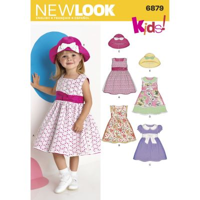 New Look Sewing Pattern 6879 Toddler Dresses