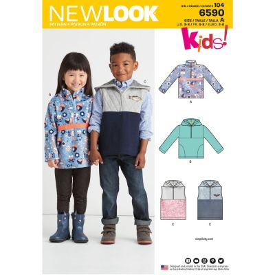 New Look Sewing Pattern 6590 - Childs Pullover Vest or Top
