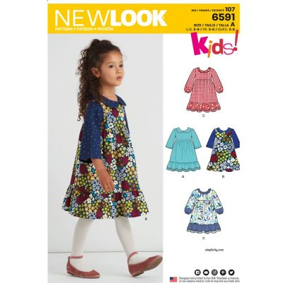 New Look Sewing Pattern 6591 - Childs Dress