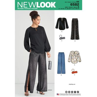 New Look Sewing Pattern 6582 - Misses Pant Top and Clutch