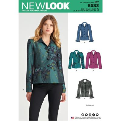 New Look Sewing Pattern 6583 - Misses Lined Jacket