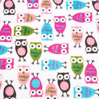 Robert Kaufman - Urban Zoologie Cuddle Nightowls Fuchsia