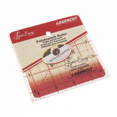 "Sew Easy Patchwork Quilt Square Ruler 4.5"" x 4.5"""