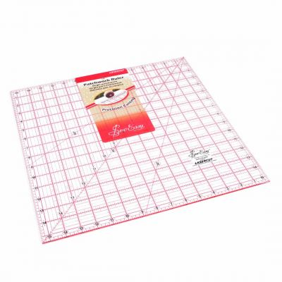 "Sew Easy Patchwork Quilt Square Ruler 15.5"" x 15.5"""