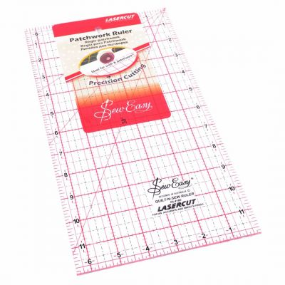 "Sew Easy Patchwork Quilting Ruler 12"" x 6.5"""