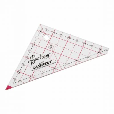 Sew Easy Patchwork Quilt Template 90 Degree Triangle 4.5""