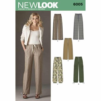 New Look Sewing Pattern 6005 Misses Pants