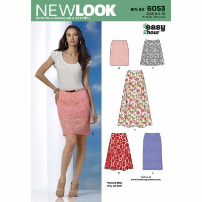 New Look Sewing Pattern 6053 Misses' Skirts