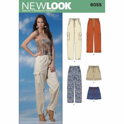 New Look Sewing Pattern 6055 Misses' Pants & Shorts