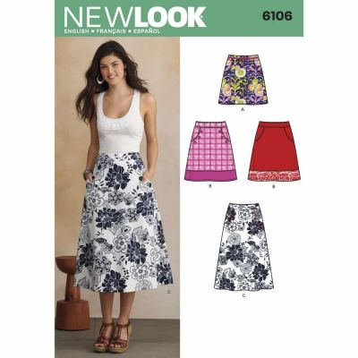 New Look Sewing Pattern 6106 Misses' Skirts