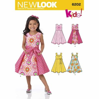 New Look Sewing Pattern 6202 Child's Dress and Sash