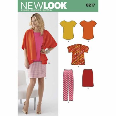 New Look Sewing Pattern 6217 Misses' Separates