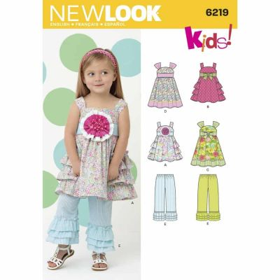 New Look Sewing Pattern 6219 Toddlers' Dress and Pants