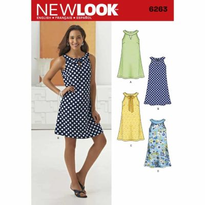 New Look Sewing Pattern 6263 Misses' A- Line Dress