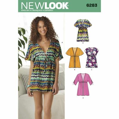 New Look Sewing Pattern 6283 Misses' Mini Dress or Tunic