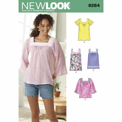 New Look Sewing Pattern 6284 Misses' Pullover Top in Two Lengths