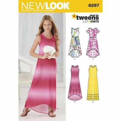 New Look Sewing Pattern 6297 Girls' Knit Dress