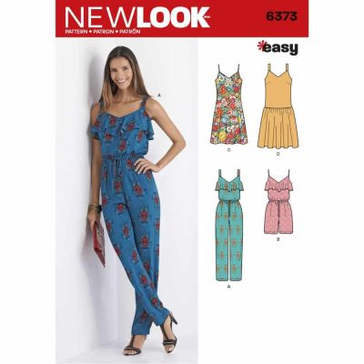 New Look Sewing Pattern 6373 Misses' Jumpsuit or Romper and Dresses