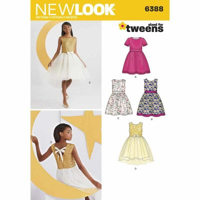 New Look Sewing Pattern 6388 Girls' Party Dresses