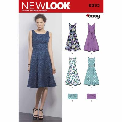 New Look Sewing Pattern 6393 Misses' Easy Dress and Purse