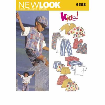 New Look Sewing Pattern 6398 Child Separates