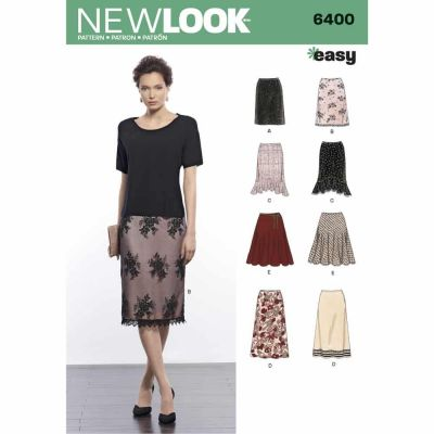 New Look Sewing Pattern 6400 Misses' Skirts in Various Styles