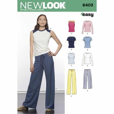 New Look Sewing Pattern 6403 Misses' Easy Separates