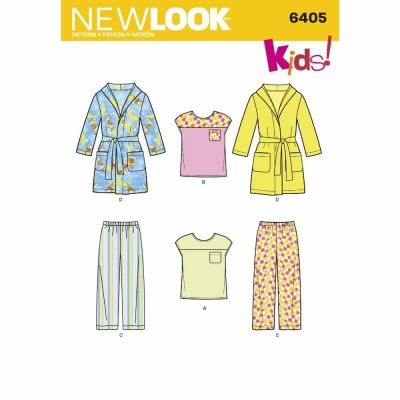New Look Sewing Pattern 6405 Toddlers' Separates