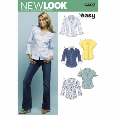 New Look Sewing Pattern 6407 Misses Tops