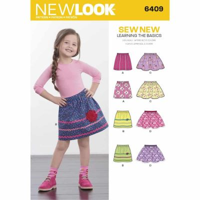 New Look Sewing Pattern 6409 Child's Pull-On Skirts