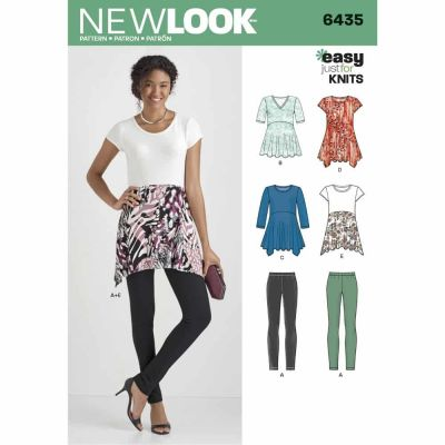 New Look Sewing Pattern 6435 Misses' Knit Leggings and Tunics