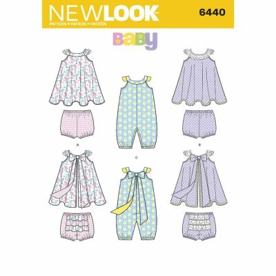 New Look Sewing Pattern 6440 Babies' Romper and Sundress with Panties