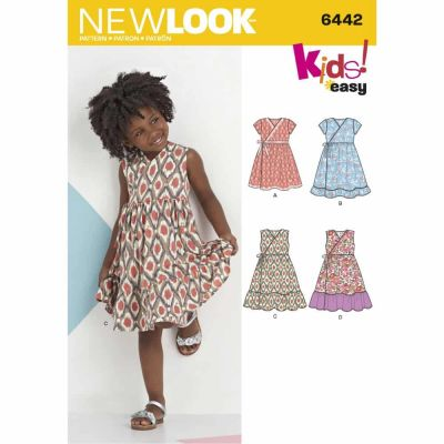 New Look Sewing Pattern 6442 Child's Easy Wrap Dresses