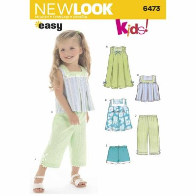 New Look Sewing Pattern 6473 Toddler Separates