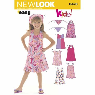 New Look Sewing Pattern 6478 Child Dresses