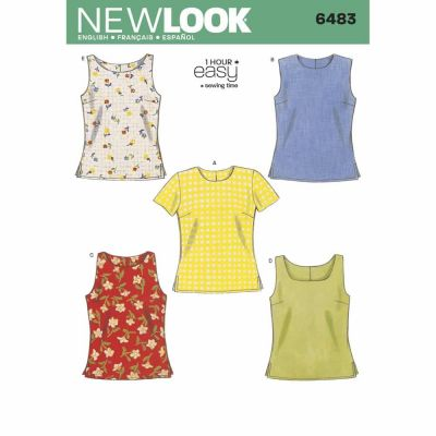 New Look Sewing Pattern 6483 Misses Tops