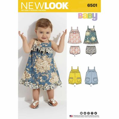 New Look Sewing Pattern 6501 Babies' Dress and Romper